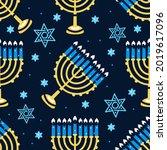 Happy Hanukkah Pattern With...