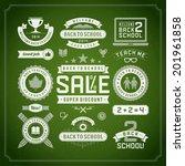 back to school vector design... | Shutterstock .eps vector #201961858