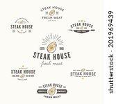 set of grill steak labels ...   Shutterstock .eps vector #201969439
