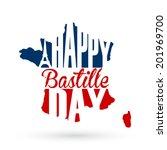 14th july bastille day... | Shutterstock .eps vector #201969700