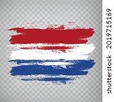 flag of netherlands  brush...