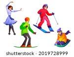 people engage winter sport ... | Shutterstock .eps vector #2019728999
