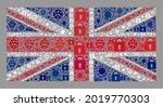 mosaic covid lockdown united... | Shutterstock .eps vector #2019770303