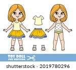 cartoon girl with bob hairstyle ... | Shutterstock .eps vector #2019780296