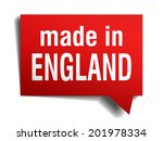 made in england red  3d... | Shutterstock . vector #201978334