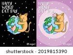 A Cute Illustration Of A Cat...