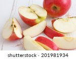 Pink Lady Apples Cut On A...