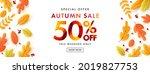 autumn sale poster or banner... | Shutterstock .eps vector #2019827753