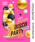 cocktail disco party poster...   Shutterstock .eps vector #2019870263
