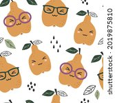 seamless pattern with cute... | Shutterstock .eps vector #2019875810