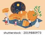 mid autumn festival design.... | Shutterstock .eps vector #2019880973
