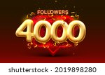 thank you followers peoples  4k ...   Shutterstock .eps vector #2019898280