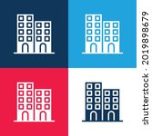 Architectonic Blue And Red Four ...
