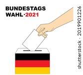 hand putting a voting ballot...