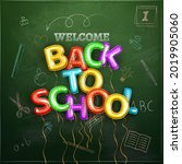 back to school  background of...   Shutterstock . vector #2019905060
