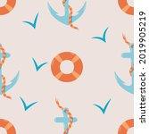 vector seamless pattern on the... | Shutterstock .eps vector #2019905219