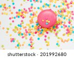 tasty macaroon against colorful ... | Shutterstock . vector #201992680