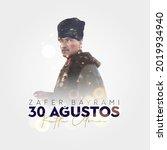 30 agustos zafer bayrami kutlu... | Shutterstock .eps vector #2019934940