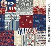 vintage nautical style marine...   Shutterstock .eps vector #2019948809