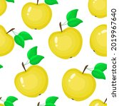 seamless pattern with yellow... | Shutterstock .eps vector #2019967640