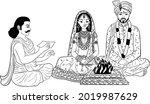 indian wedding clip art of... | Shutterstock .eps vector #2019987629