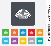 sea shell sign icon. conch... | Shutterstock .eps vector #201999136