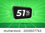 51  off. green banner with...   Shutterstock .eps vector #2020027763