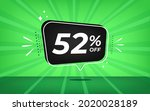 52  off. green banner with...   Shutterstock .eps vector #2020028189