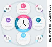 infographic design. time... | Shutterstock .eps vector #202005223