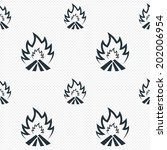 fire flame sign icon. heat... | Shutterstock .eps vector #202006954