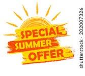special summer offer banner  ... | Shutterstock .eps vector #202007326