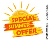 special summer offer banner  ... | Shutterstock . vector #202007338