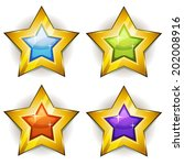 funny stars icons for ui game ...