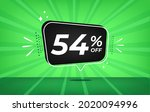 54  off. green banner with...   Shutterstock .eps vector #2020094996