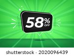 58  off. green banner with...   Shutterstock .eps vector #2020096439