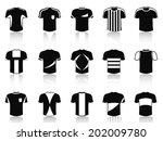 black t shirt soccer clothing...   Shutterstock .eps vector #202009780