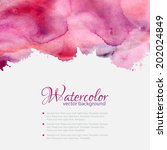 Pink Watercolor Blots Pattern...