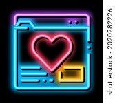 creature dating site neon light ... | Shutterstock .eps vector #2020282226