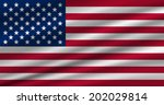 american flag waving vector eps ... | Shutterstock .eps vector #202029814