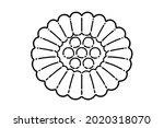 yakgwa  korean traditional...   Shutterstock .eps vector #2020318070
