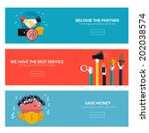 flat designed banners for... | Shutterstock .eps vector #202038574