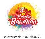 happy raksha bandhan indian...   Shutterstock .eps vector #2020400270