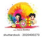 happy raksha bandhan indian...   Shutterstock .eps vector #2020400273