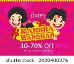 happy raksha bandhan indian...   Shutterstock .eps vector #2020400276