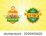 15th freedom sale on... | Shutterstock .eps vector #2020443620