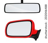 rear view mirror | Shutterstock .eps vector #202046488