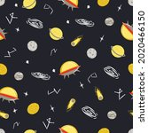seamless pattern with space....   Shutterstock .eps vector #2020466150