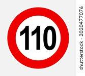 110 kilometers or miles per... | Shutterstock .eps vector #2020477076