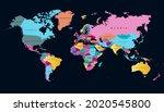 world map. color vector modern. ... | Shutterstock .eps vector #2020545800