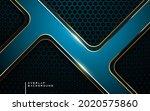 modern overlap layer blue...   Shutterstock .eps vector #2020575860